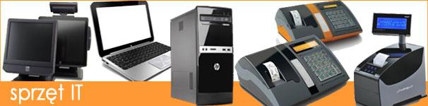 sprzęt komputerowy, serwer, notebook, teraminal, fiskalne