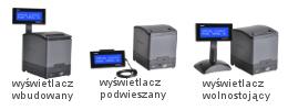 terminal fiskalny Thermal HD Posnet wersje wyświetlacza